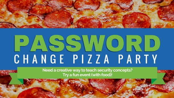Password Change Pizza Party