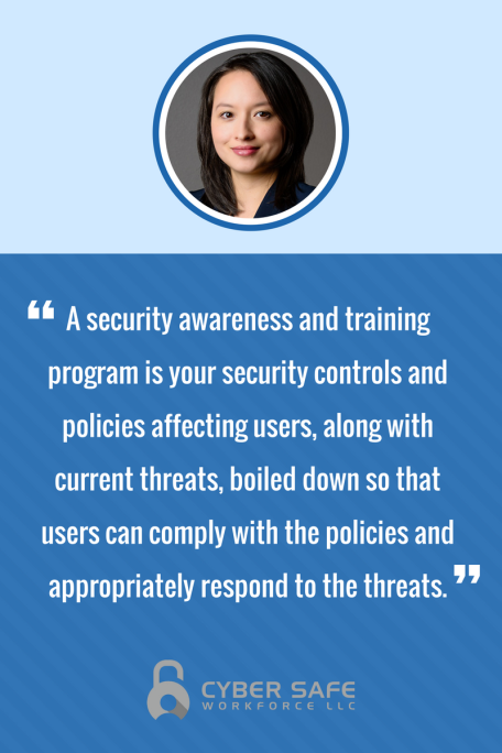 Define security awareness and training