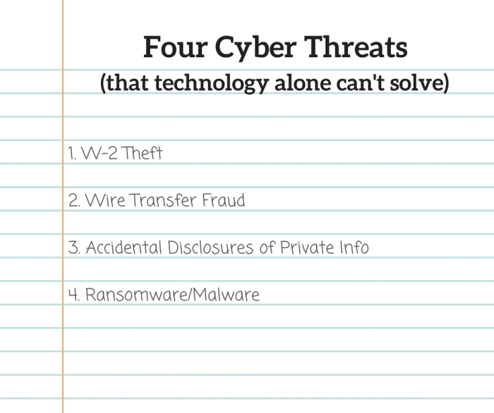 Four Cyber Threats