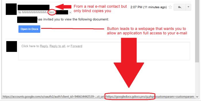 Google Doc phish