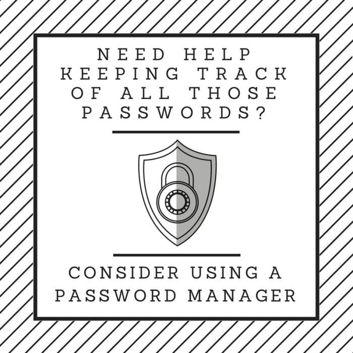 Consider using a password manager