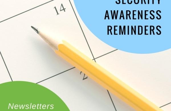 Consistent security awareness reminders