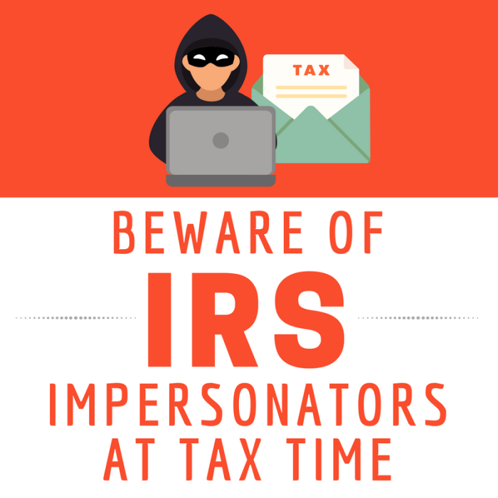 Beware of IRS impersonators at tax time