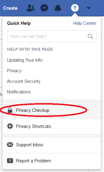 Facebook settings 3