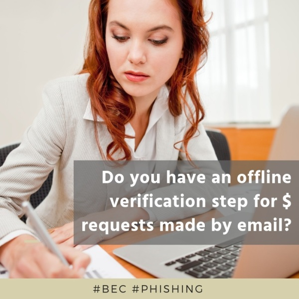 Do you have an offline verification step for money requests?