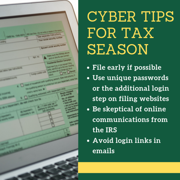 Cyber tips for tax season