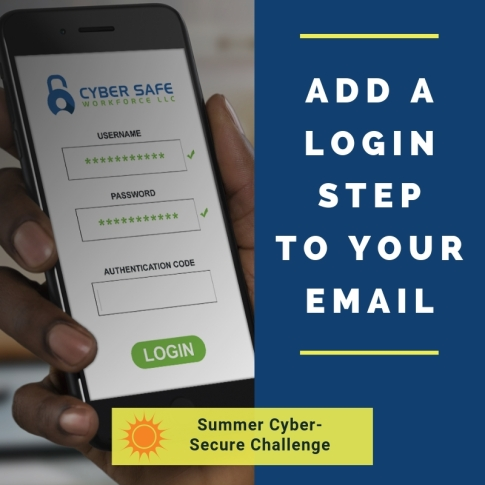 Add a login step to your email