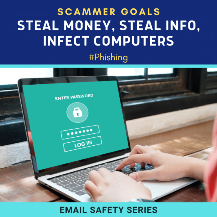 Phishing scam goals