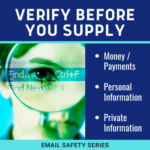 Verify before you supply