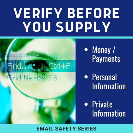 Verify before you supply