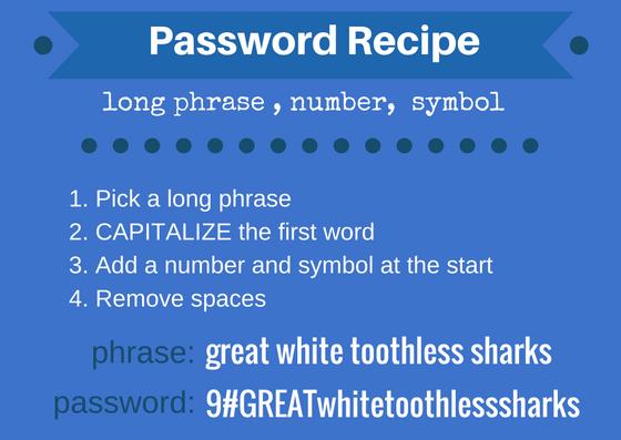 password recipe phrase